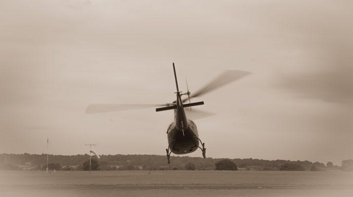 В Астраханской области упал вертолет