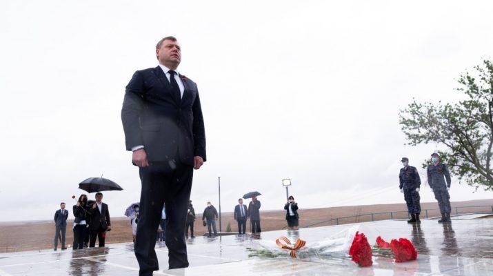 Игорь Бабушкин посетил мемориал 28-й Армии под Хулхутой