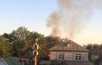 В Астраханской области горит хозпостройка