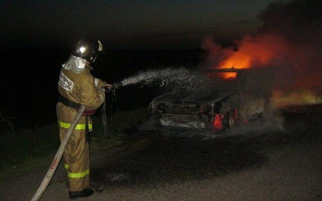 В Астраханской области сгорели 90 рулонов сена