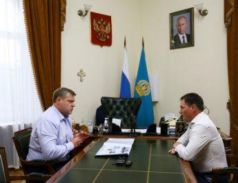 Губернатор Игорь Бабушкин встретился с мэром Ахтубинска