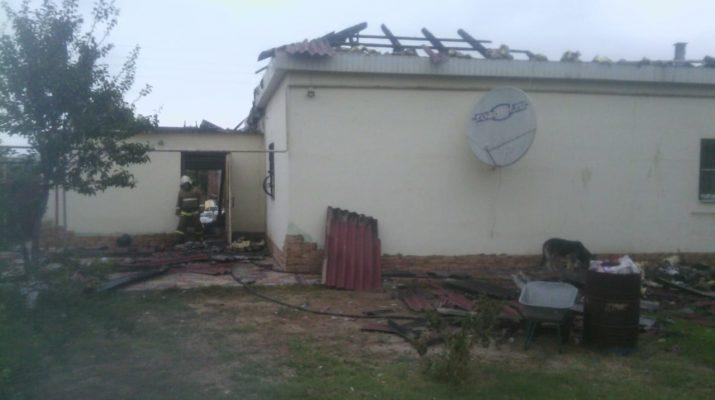 Ночью в Астраханской области сгорел дом