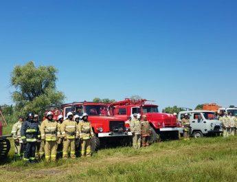 Астраханские спасатели тренируются в умении тушить природные пожары