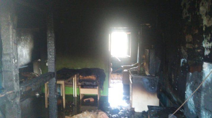 В селе Икряное сгорел жилой дом