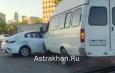 В Астрахани произошло ДТП с четырьмя автомобилями (видео)