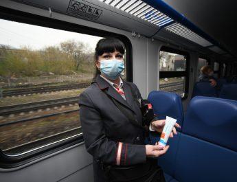 Сотрудники РЖД препятствуют распространению COVID-19 в поездах