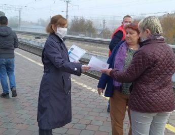 Бесплатную раздачу масок организовали работники астраханского вокзала