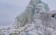 На севере Астраханской области обнаружили ледяную гору