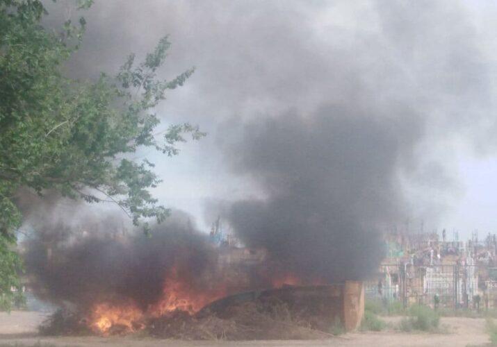 пожар возле кладбища астрахань