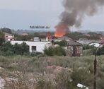 В Астрахани сгорел дом