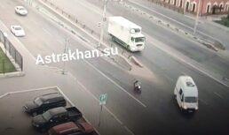 В Астрахани 26-летний мотоциклист попал ваварию уНового моста