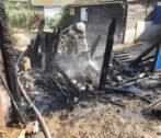 В Астрахани горели дома, бани и хозпостройки