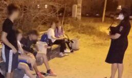 дети ночью на улице