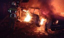 В Трусовском районе Астрахани из-за неосторожности сгорел автомобиль