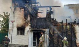 Крупный пожар вАхтубинске тушили более 3часов