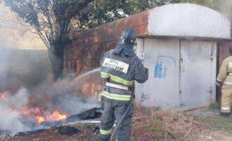 пожар гараж в астрахани